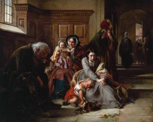 Waiting for the Verdict 1857 by Abraham Solomon 1824-1862